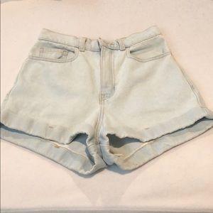 American Apparel size 24 denim shorts
